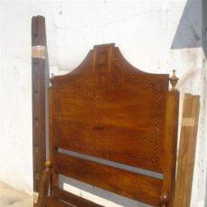Antigüedades: CAMA DE 120CM Dª MARIA CON MATERIQUETERIA. Lote 31918480