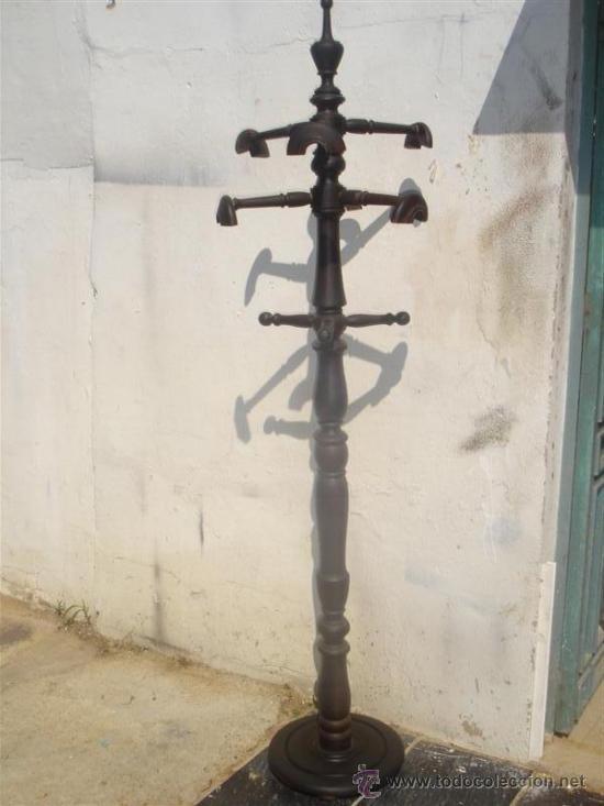 PERCHERO DE MADERA DE CASTAÑO (Antigüedades - Muebles Antiguos - Auxiliares Antiguos)