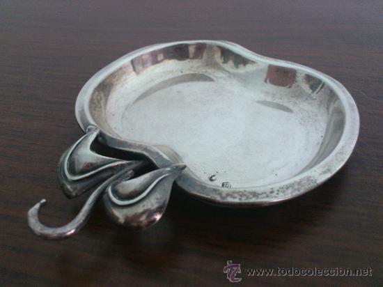 Antigüedades: Antiguo alhajero de plata de ley contrastada con forma de manzana . - Foto 4 - 58656301