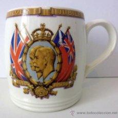 Antigüedades: ANTIGUA TAZA O MUG STAFFORDSHIRE / GEORGE V AND QUEEN MARY / SILVER JUBILEE / 1910 - 1935. Lote 31931487