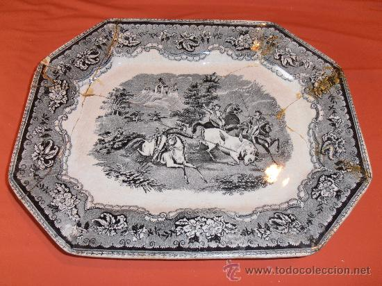 BANDEJA OCHAVADA DE CARTAGENA (Antigüedades - Porcelanas y Cerámicas - Cartagena)