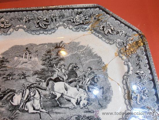 Antigüedades: BANDEJA OCHAVADA DE CARTAGENA - Foto 7 - 31936071