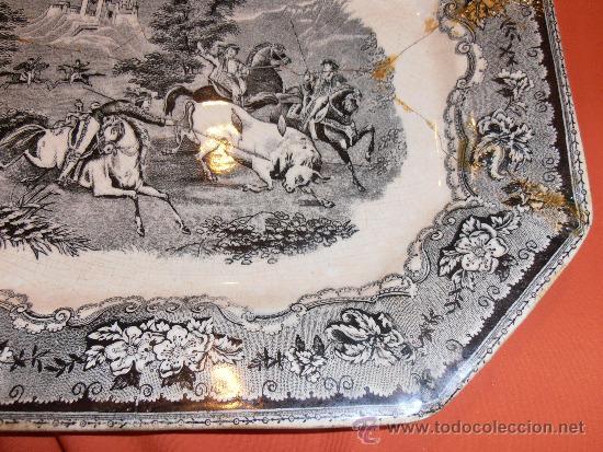 Antigüedades: BANDEJA OCHAVADA DE CARTAGENA - Foto 8 - 31936071