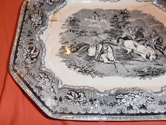 Antigüedades: BANDEJA OCHAVADA DE CARTAGENA - Foto 9 - 31936071