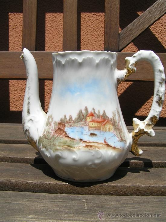 Antigüedades: antiguo juego de té. - Foto 10 - 31942979
