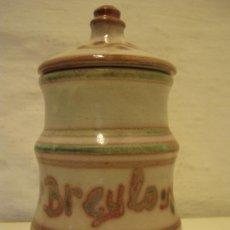 Antigüedades: ALBARELO FARMACIA PARA BREYLO - CERAMICA ESMALTADA. Lote 31944039