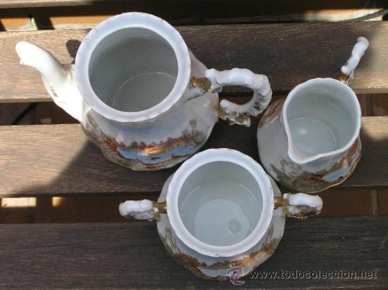Antigüedades: antiguo juego de té. - Foto 2 - 31942979