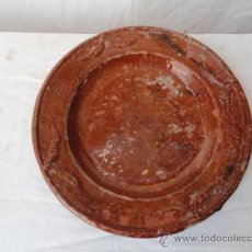 Antigüedades: ANTIGUA PLATA DE COLES DE CERÁMICA.. Lote 31955887