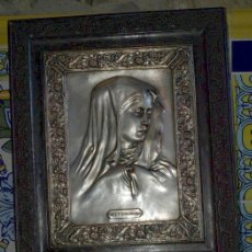 Antigüedades: VIRGEN MATER DOLOROSA. COBRE PLATEADO. S XIX.. Lote 31958695