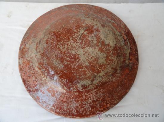 Antigüedades: ANTIGUA PLATA DE COLES DE CERÁMICA. - Foto 5 - 31955887