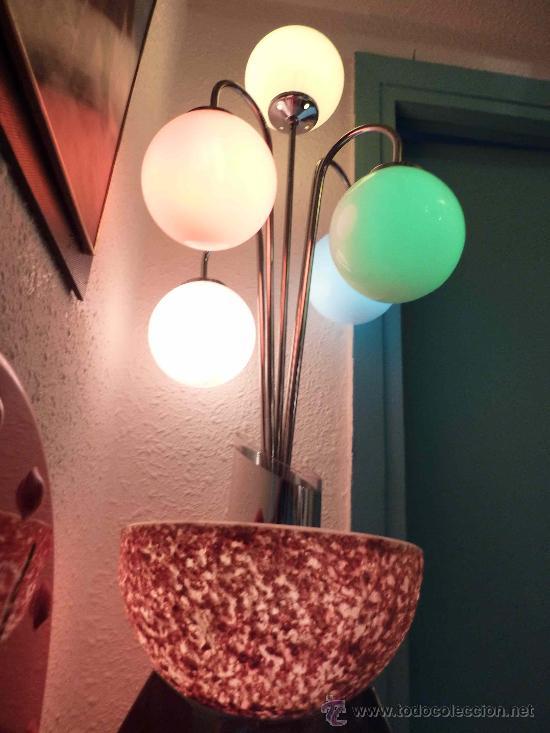 Antigüedades: LAMPARA SOBREMESA AÑOS 60 POSIBLEMENTE VALENCIANA - Foto 2 - 15298702