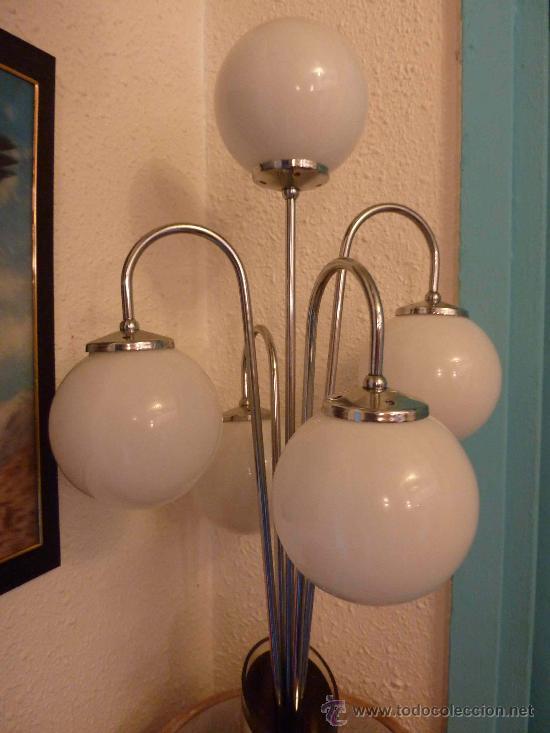 Antigüedades: LAMPARA SOBREMESA AÑOS 60 POSIBLEMENTE VALENCIANA - Foto 4 - 15298702