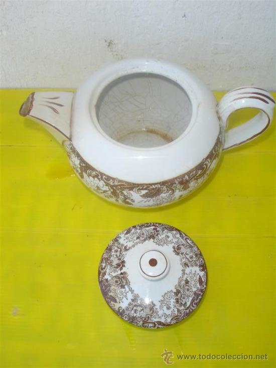 Antigüedades: cafetera de ceramica antigua sevillana - Foto 2 - 31963669