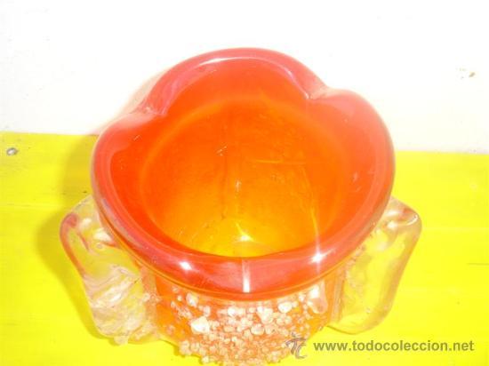 Antigüedades: jarron de cristal de murano rojo - Foto 2 - 31963695