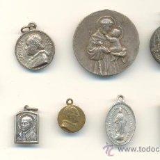 Antigüedades: CM- BONITO Y BARATO 9 MEDALLAS SAN IGNACIO, VIRGEN DEL PILAR, SAN ALONSO, CAPUCHINOS,PIO X, PIO XI . Lote 31967872