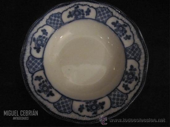 PAREJA DE PLATOS HONDOS DE PORCELANA PINTADA (Antigüedades - Porcelanas y Cerámicas - Otras)