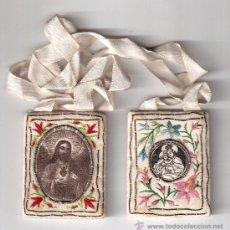 Antigüedades: ESCAPULARIO BORDADO. Lote 31981589