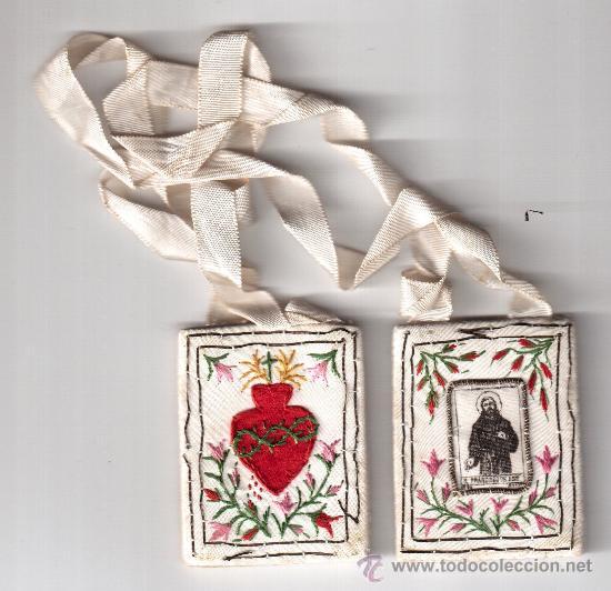 Antigüedades: escapulario bordado - Foto 2 - 31981589