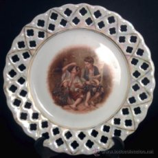Antigüedades: ANTIGUO PLATO SCHWARZENHAMMER BAVARIA / BONITOS REFLEJOS. Lote 31997944