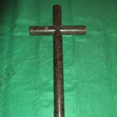 Antigüedades: CRUZ DE MARMOL CILINDRICA PARA LAPIDA. Lote 31999108