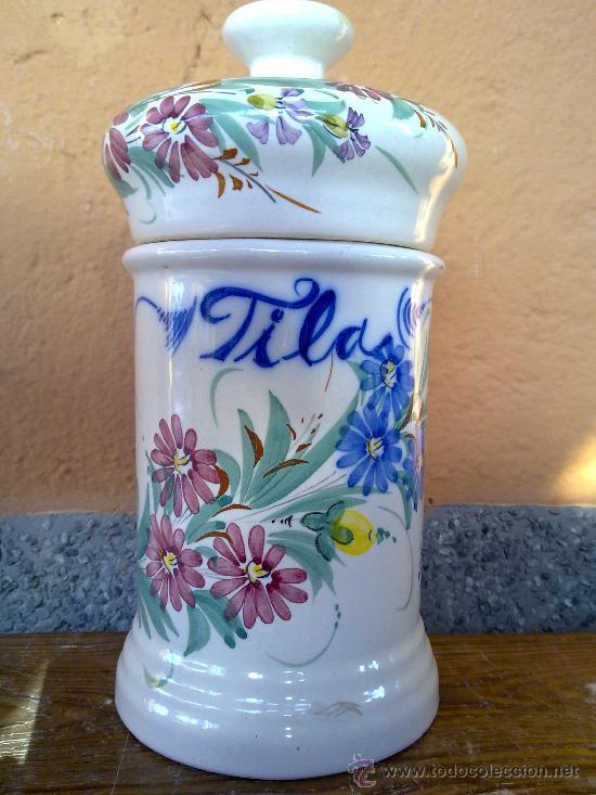 ANTIGUO TARRO DE FARMACIA, FIRMADO LARIO, LORCA (Antigüedades - Porcelanas y Cerámicas - Lario)