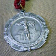 Antigüedades: MEDALLA CON CORDON, HERMANDAD SANTISIMO CRISTO DEL GRAO, VALENCIA, 1950S. Lote 32026770