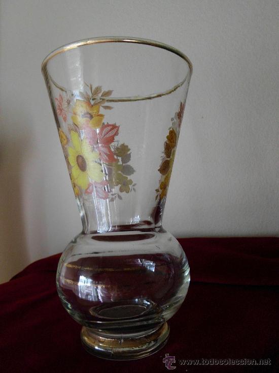 Antigüedades: Florero de Cristal PINTADO A MANO - Foto 2 - 31999761