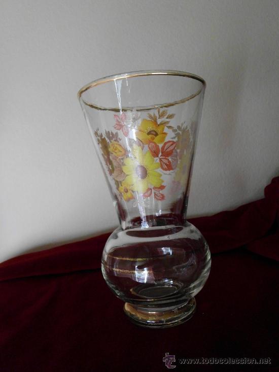 Antigüedades: Florero de Cristal PINTADO A MANO - Foto 4 - 31999761