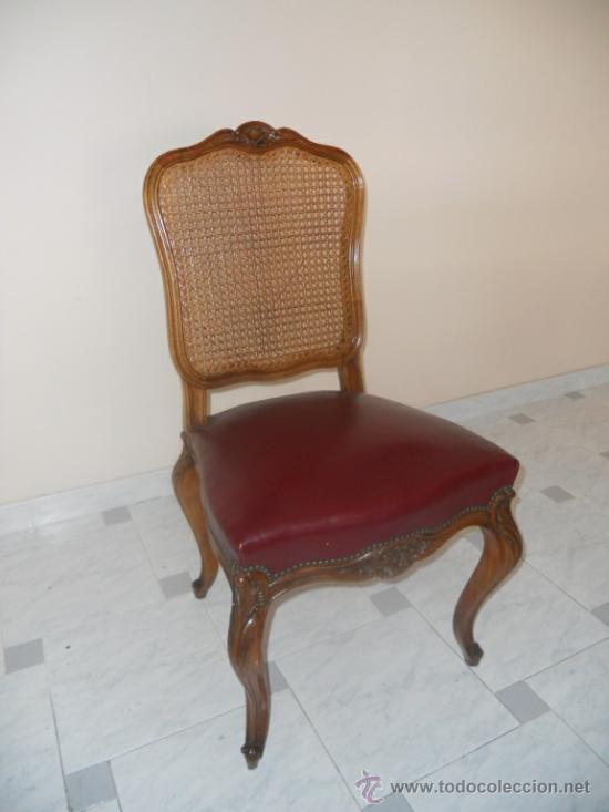 Cuatro sillas estilo luis xv con respaldo en re comprar for Muebles luis xv segunda mano
