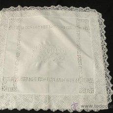 Antiques - ANTIGUO CUADRANTE FUNDA DE COJIN NOMBRE BORDADO MONICA - 32041937