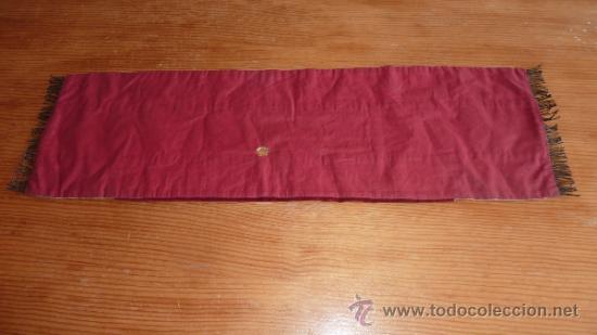 Antigüedades: mantel religioso bordado para mesita, antiguo - Foto 8 - 32025720