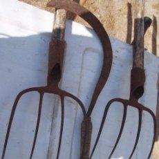 Antigüedades: HORCAS DE HIERRO. Lote 32048573