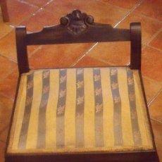 Antigüedades: ANTIGUA DESCALZADORA MADERA Y SEDA PRINCIPIO DEL SIGLO XX.. Lote 32048855
