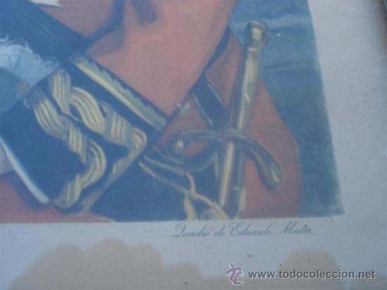 Antigüedades: portafoto comado con lamina militar - Foto 3 - 32050664