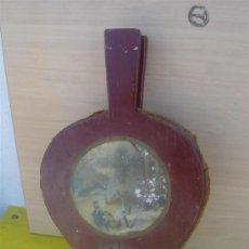 Antigüedades: FUELLE DE MADERA Y CUERO. Lote 32050678