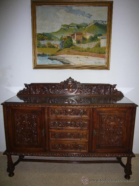 APARADOR ANTIGUO DE NOGAL (Antigüedades - Muebles Antiguos - Aparadores Antiguos)