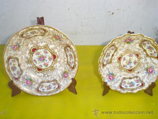 2 PEQUEÑOS PLATOS HONDOS FIRMADOS (Antigüedades - Porcelanas y Cerámicas - Otras)
