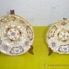 Antigüedades: 2 PEQUEÑOS PLATOS HONDOS FIRMADOS. Lote 32064669