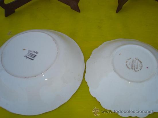 Antigüedades: 2 pequeños platos hondos firmados - Foto 3 - 32064669
