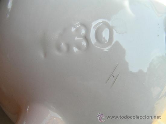 Antigüedades: ANTIGUA SOPERA O PONCHERA con forma de pote gallego. COMO NUEVA Y MUY DECORATIVA.NUMERADA. - Foto 4 - 32067159