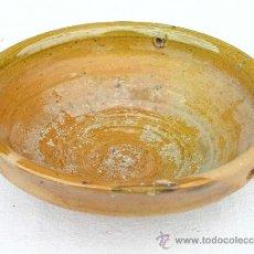 Antigüedades: MUY RARA Y ANTIGUA LÁMPARA DE ACEITE DE CERÁMICA VIDRIADA.. Lote 32116477