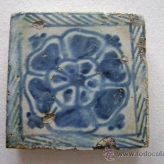 Antigüedades: AZULEJO GOTICO .VALENCIA SIGLO XV. Lote 32119671
