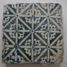 Antigüedades: GRAN AZULEJO GOTICO .VALENCIA SIGLO XV. Lote 32120251