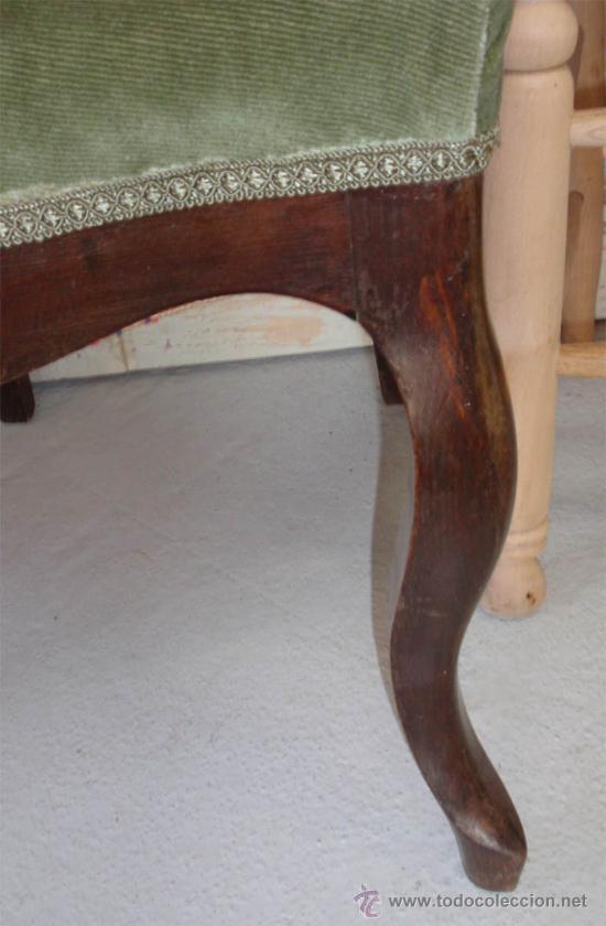 Antigüedades: Silleria antigua isabelina. De haya, terciopelo. 12 sillas - Foto 4 - 26638671