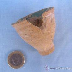 Antigüedades: CERÁMICA POPULAR. ANTIGUO Y PEQUEÑO MORTERO DE BARRO. Lote 32133735