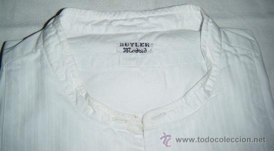Antigüedades: camisa antigua para frak pechera rallada (lote nº 2) - Foto 2 - 32134380