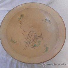 Antigüedades: PLATO DE CERÁMICA CATALANA. LA BISBAL. SIGLO XIX. CERÁMICA POPULAR.. Lote 32134763
