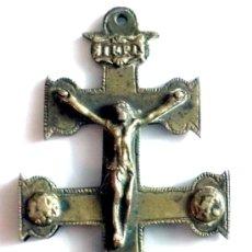 Antigüedades: CRUZ DE CARAVACA SIGLO XVIII , MEDIDAS 11,4 CM POR 5,4 CM. Lote 47614830