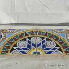Antigüedades: LOTE DE 2 AZULEJOS PARA ENMARCAR.. Lote 32142840