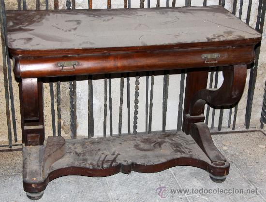 consola siglo xix madera mueble antiguo para de comprar
